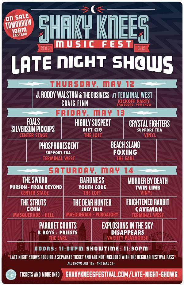 Shaky Knees Late Show