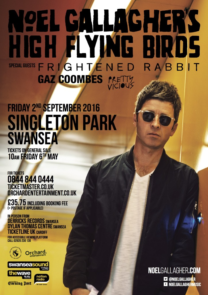 Noel Gallagher support poster