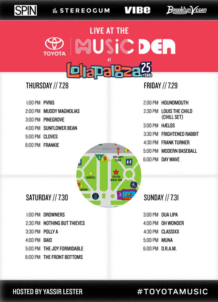 Lollapalooza Schedule
